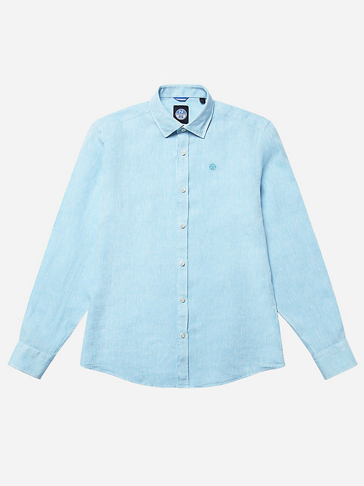 Camisa de lino puro