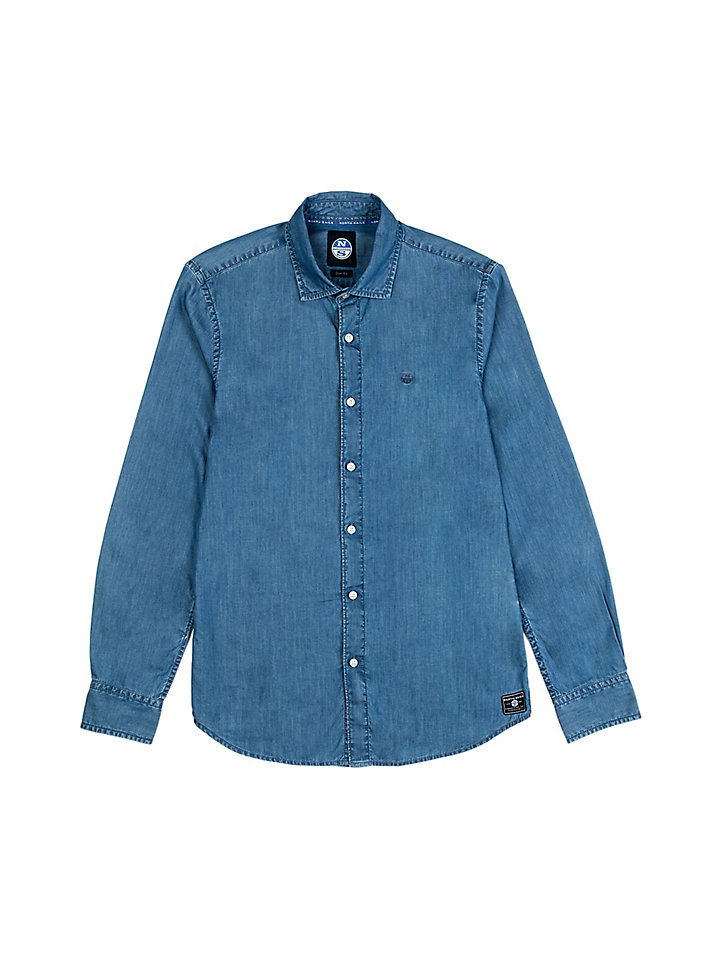 Chambray overhemd