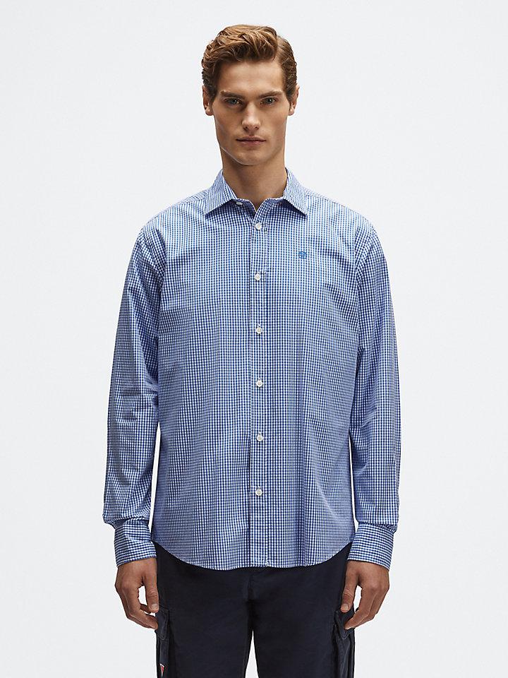 Geruit, katoenen shirt