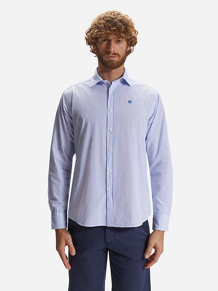 Shirt van katoenen popeline