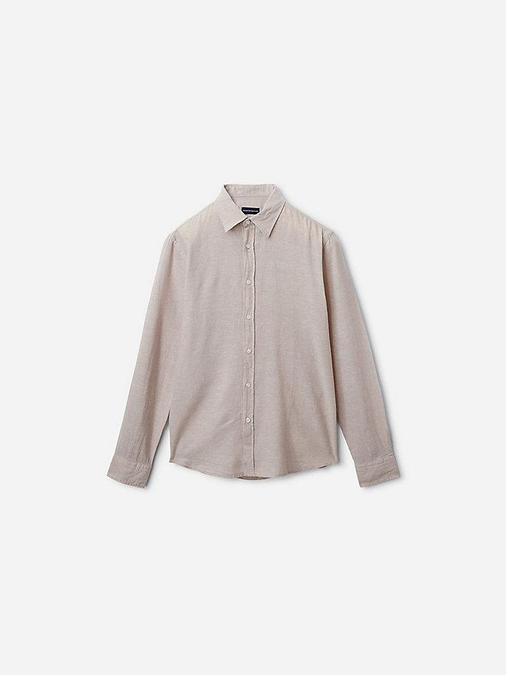 Leinen- und Baumwoll-Hemd