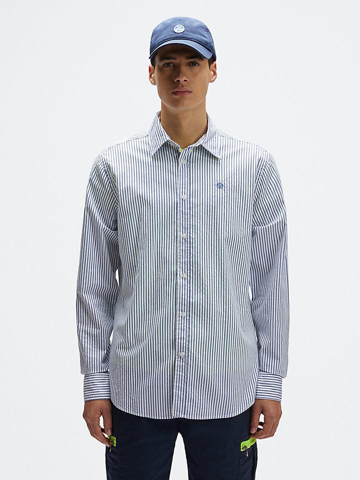 Shirt van seersuckerkatoen