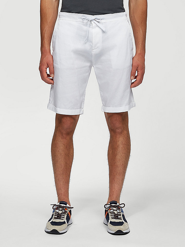 Drawstring Waist Chino Shorts