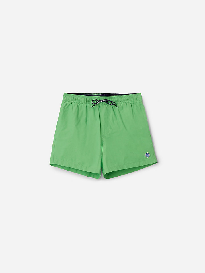 Swim Shorts In Cotton And Nylon