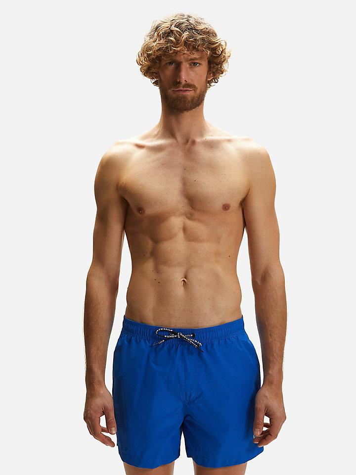 Swim Shorts In Cotton And Nylon