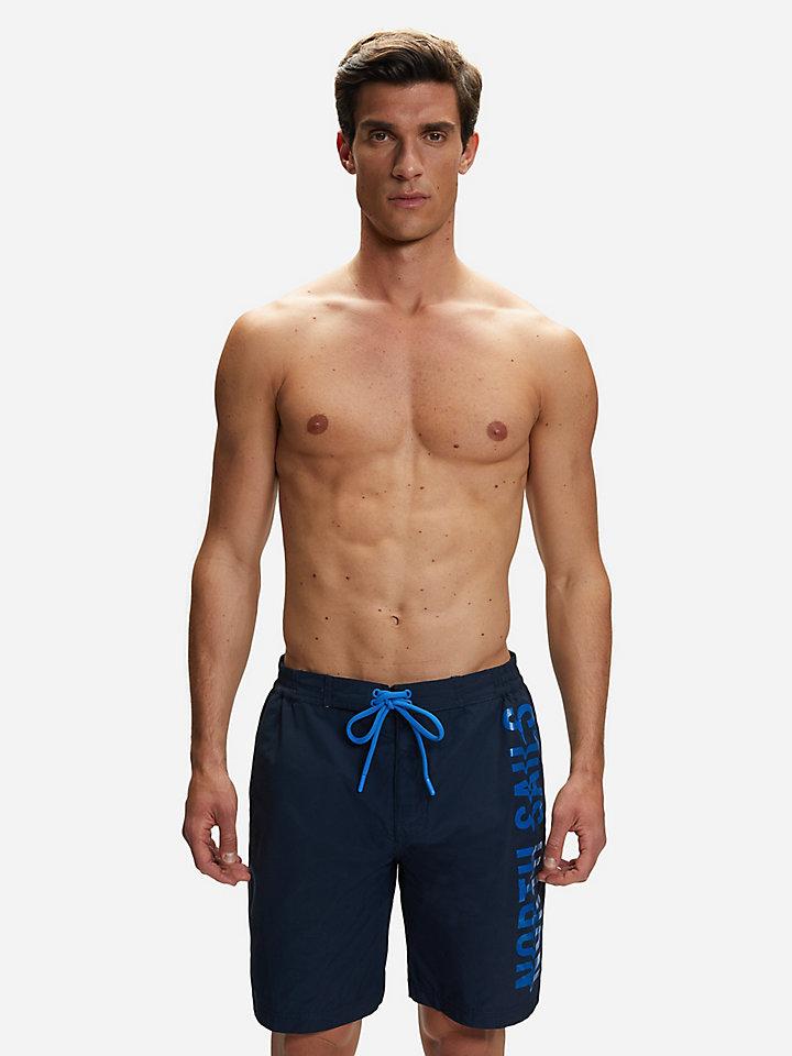 Zwemshort van katoenen nylon