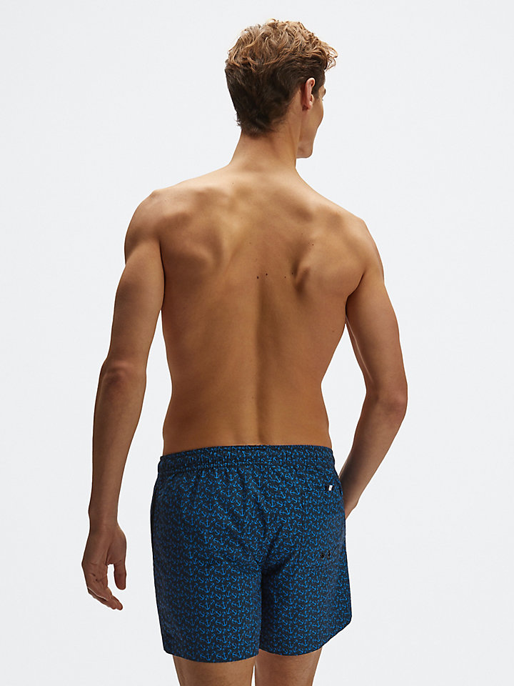 Cotton-nylon swim shorts