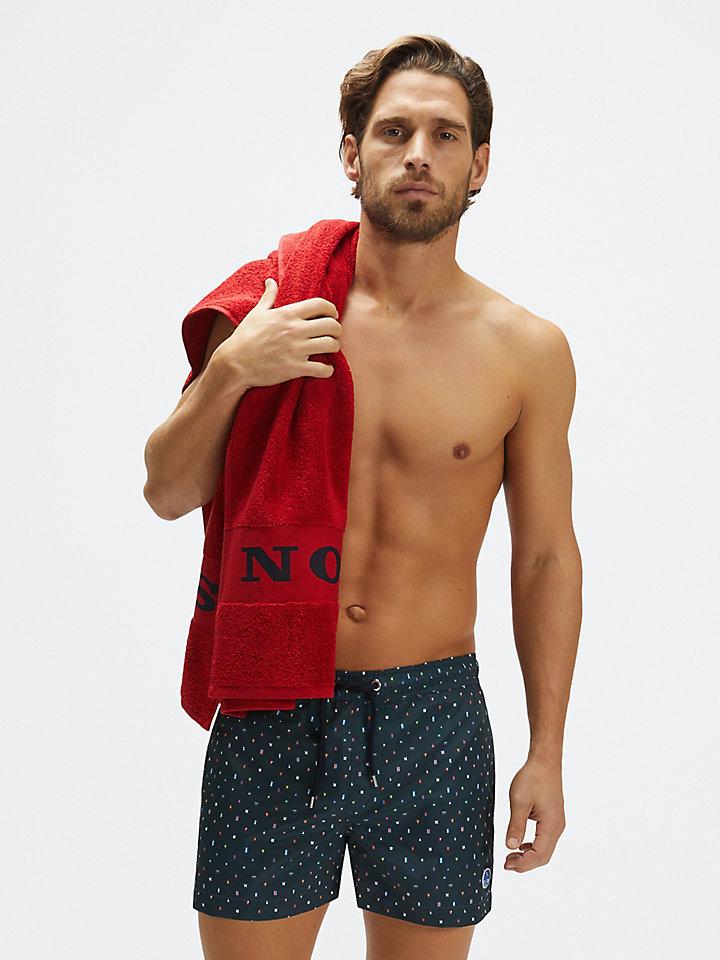 Recycled fabric swim shorts