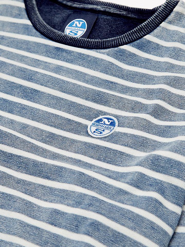 Striped Indigo Round Neck