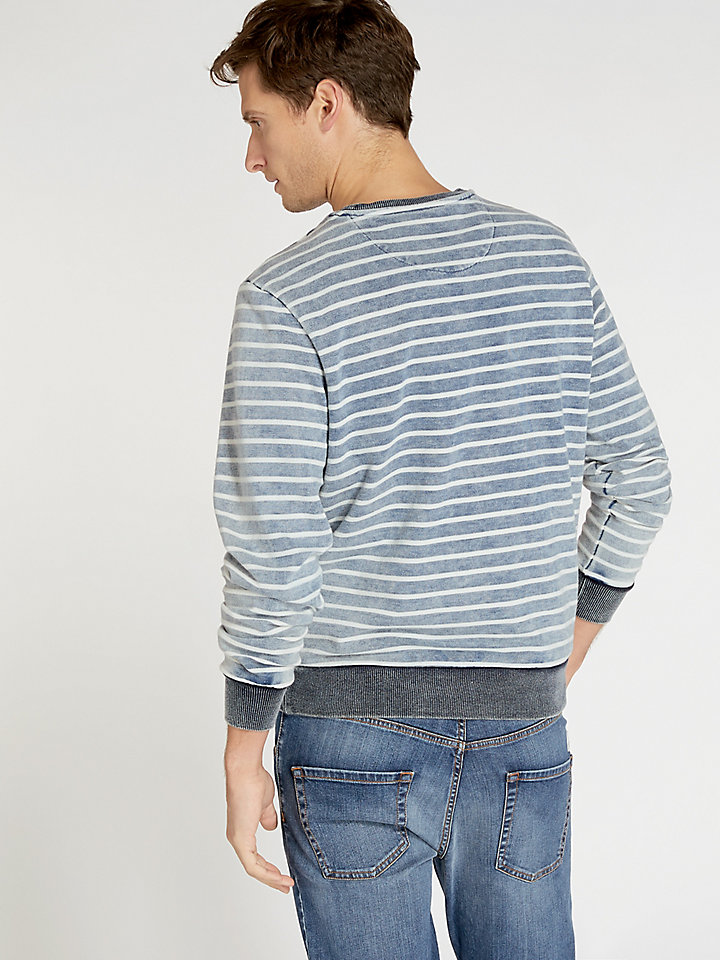 Striped Indigo Round Neck