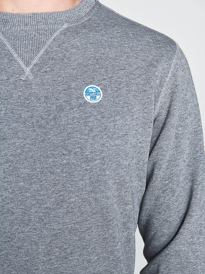 Geborsteld katoenen sweatshirt