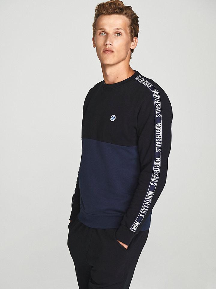 Sweatshirt mit Farbblock-Design