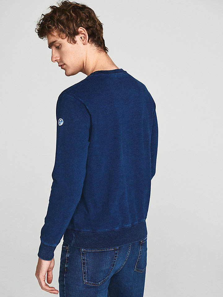 Indigo Cotton Sweatshirt