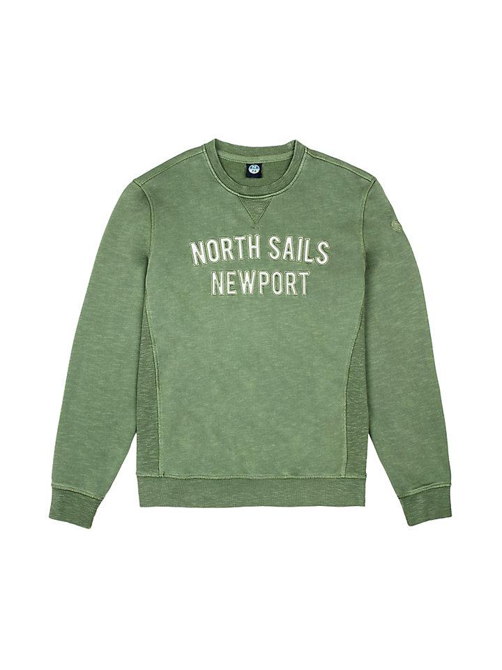 Sweatshirt aus genoppter Baumwolle