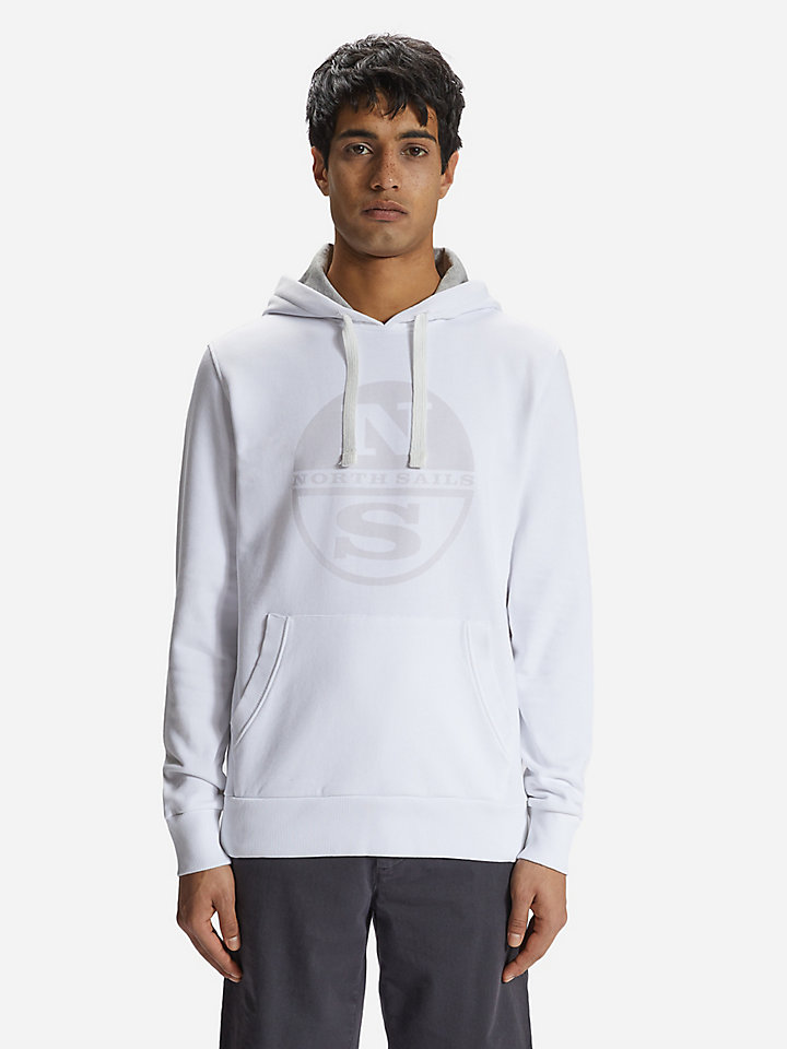 Felpa hoodie in cotone