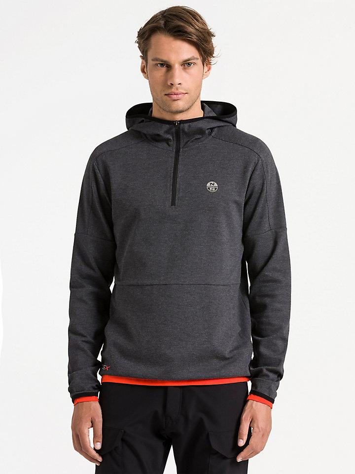 Hooded Half Zip Sweater