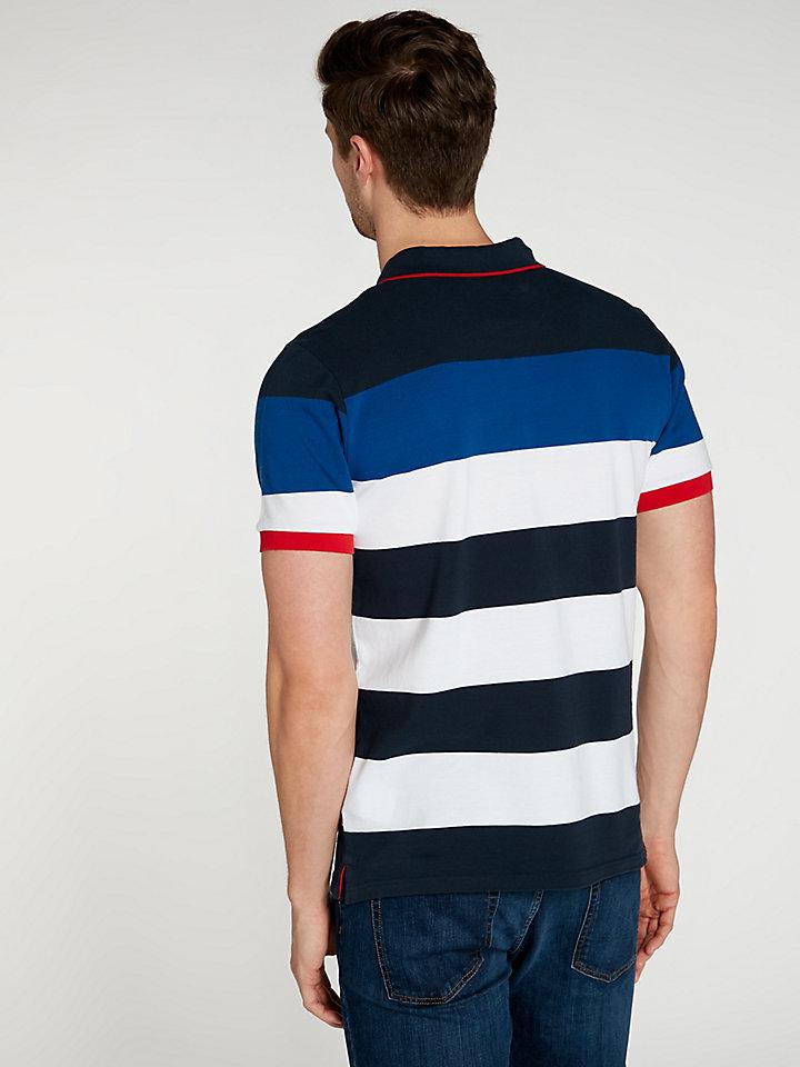 Contrast Striped Polo