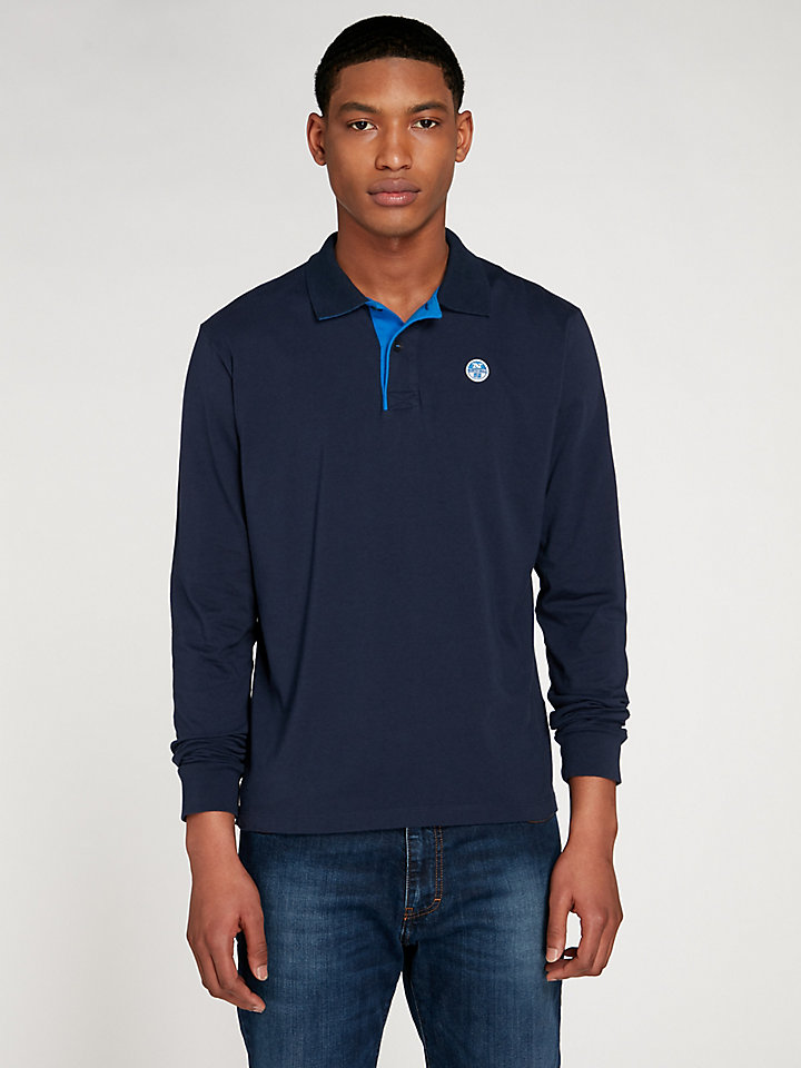 Contrast Polo Long Sleeve