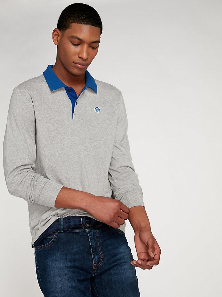 Contrast Polo Long Sleeve