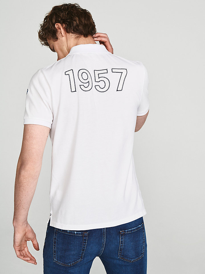 Appliqué Cotton Polo Shirt