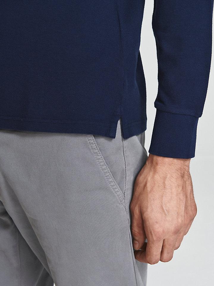 Vintage-Effect Cotton Polo