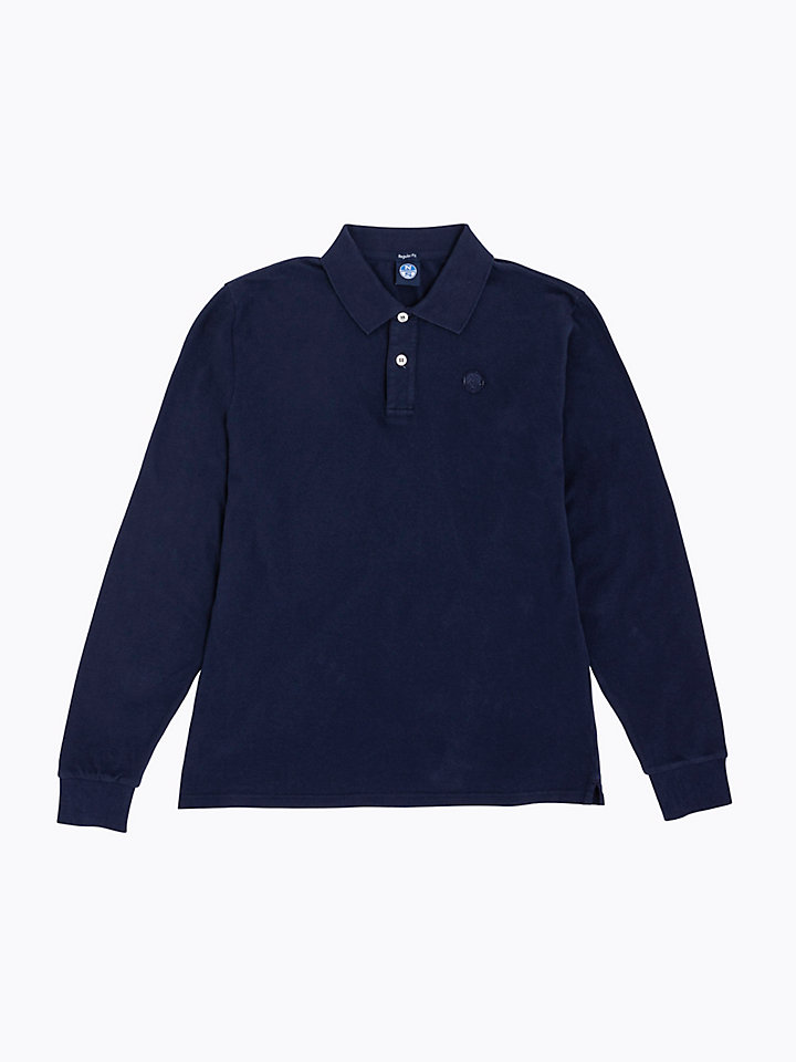Vintage-Effect Cotton Polo