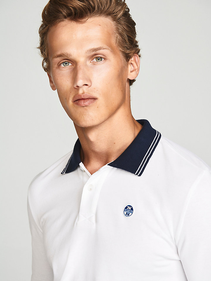 Brushed Jersey Polo Shirt