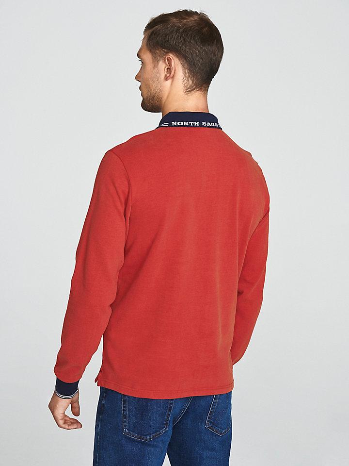 Poloshirt aus aufgerautem Jersey