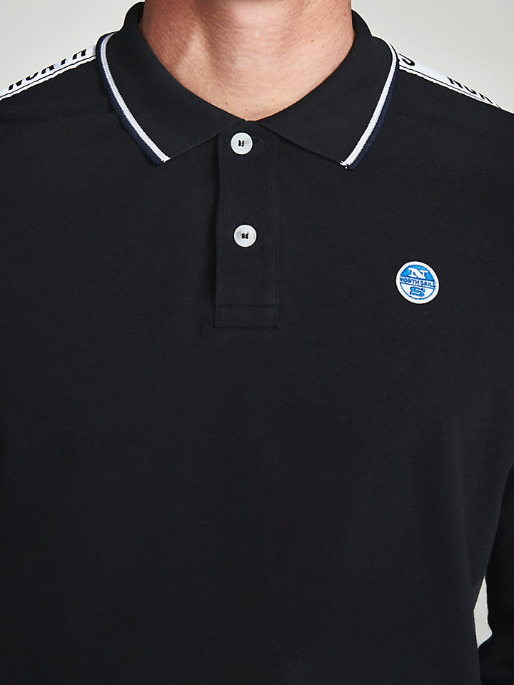 Cotton Polo With Tape Trims