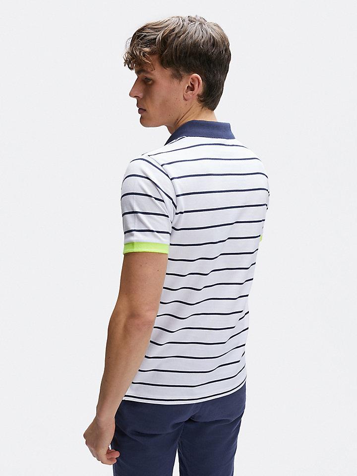 striped polo s/s w/logo