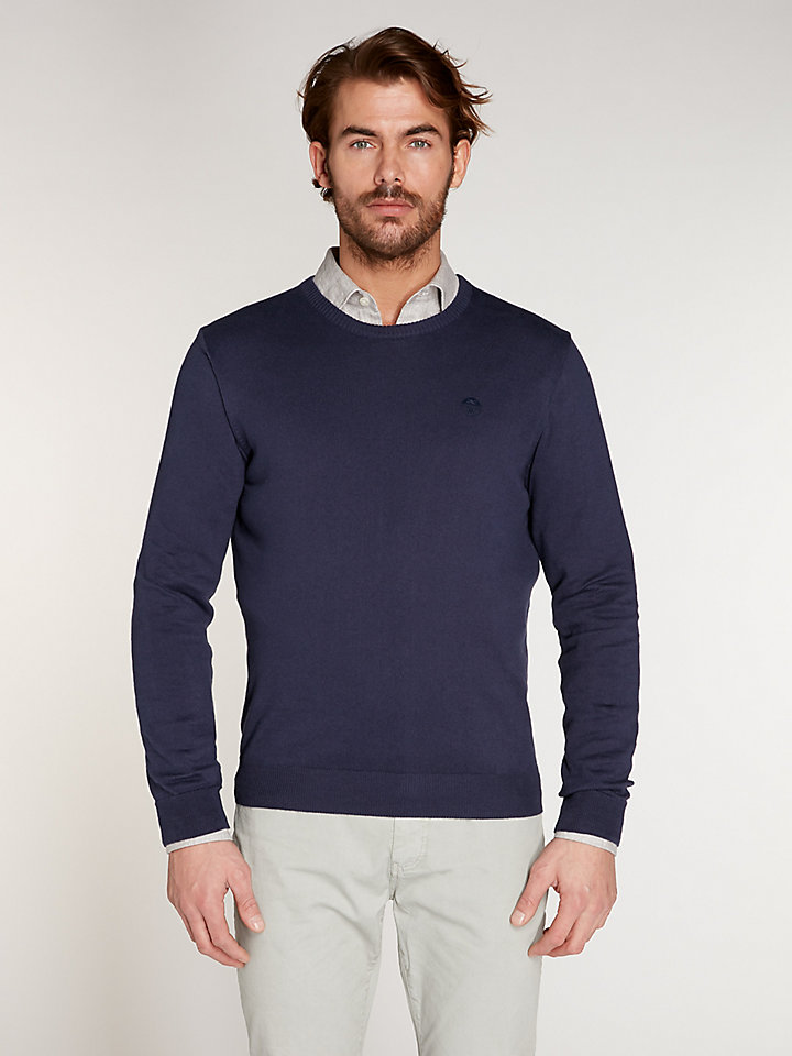 Cotton Cashmere Round Neck 12Gg