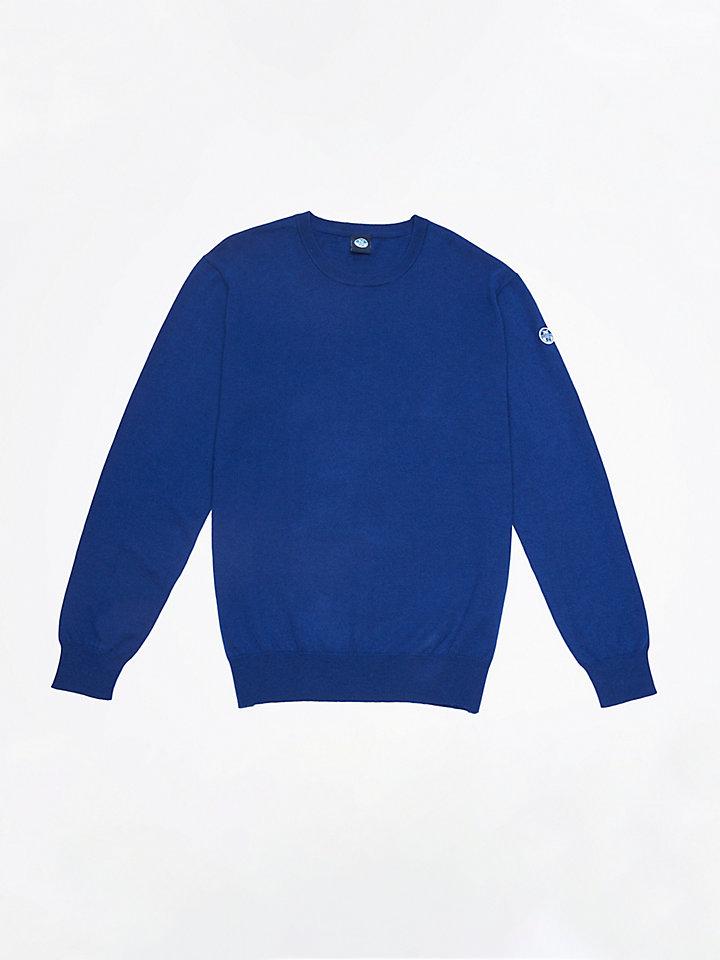 Pullover aus Wolle-Baumwolle-Mischung