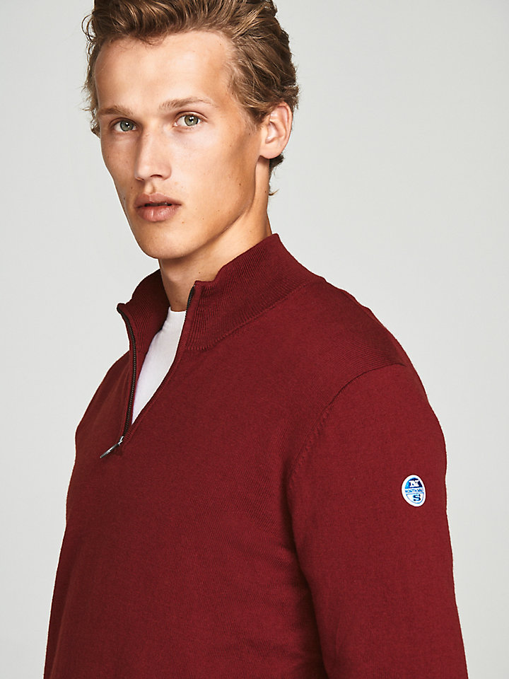 Half-Zip Wool Jumper