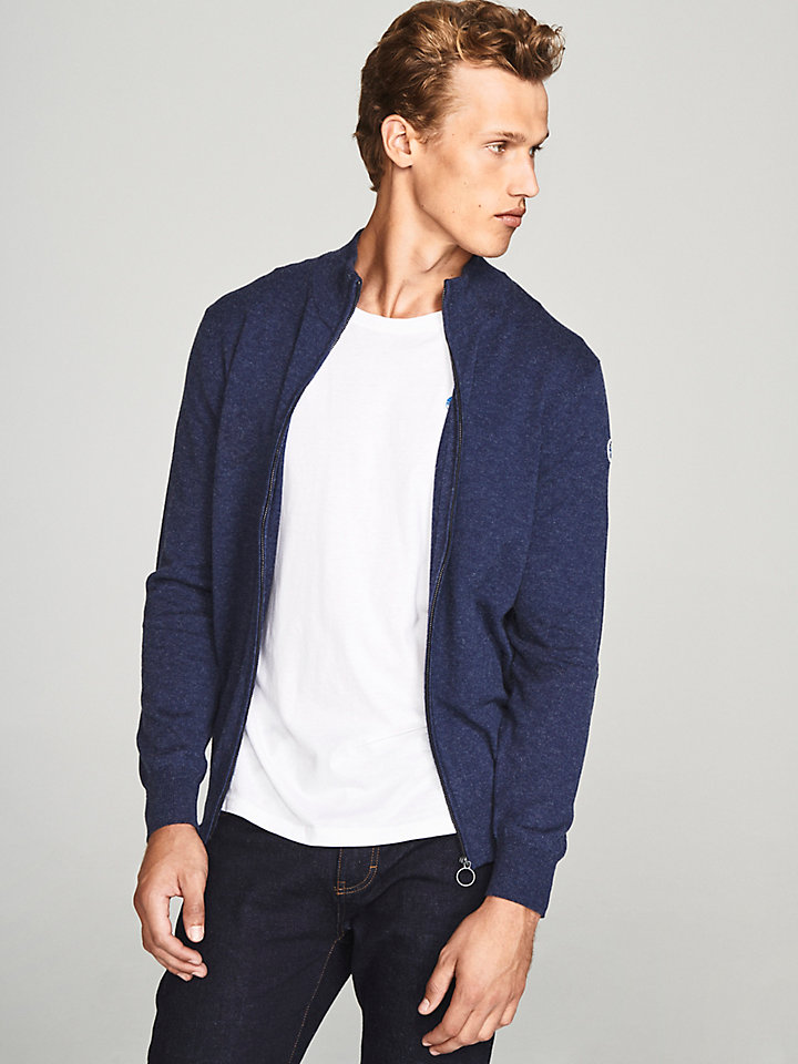 Wool Zip-Up Cardigan
