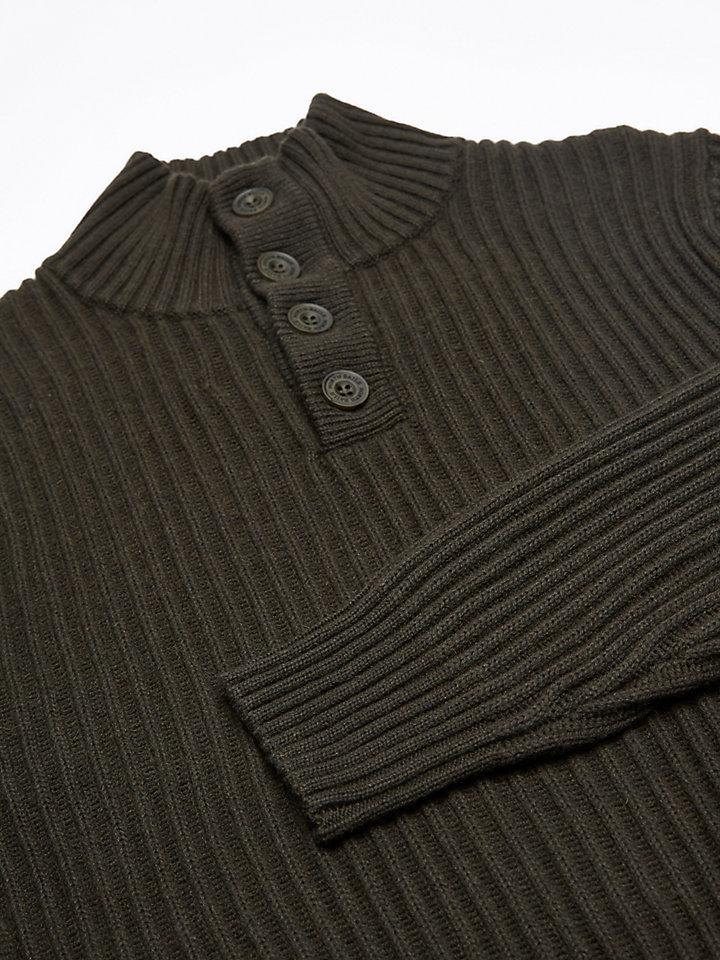 Half-Placket Wool Jumper