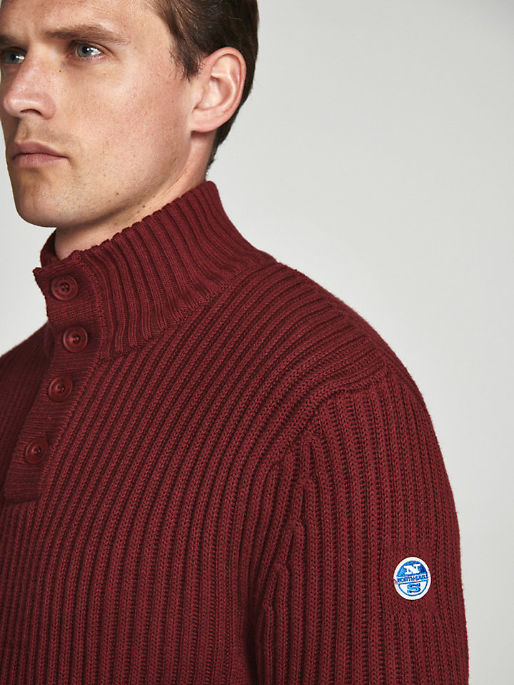 Half-Placket Wool Jumper