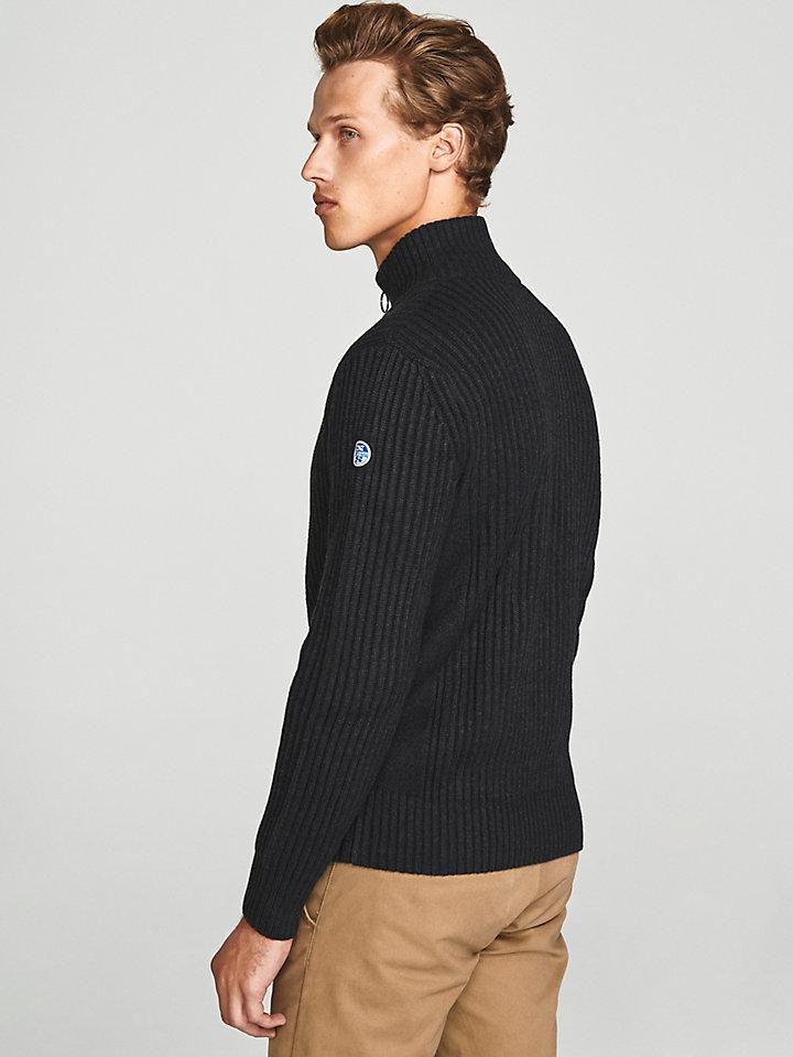 Wool Zip-Up Cardigan