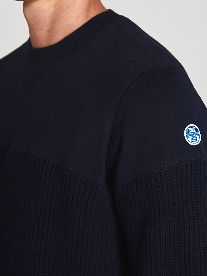 Jumper In Wool And Jersey