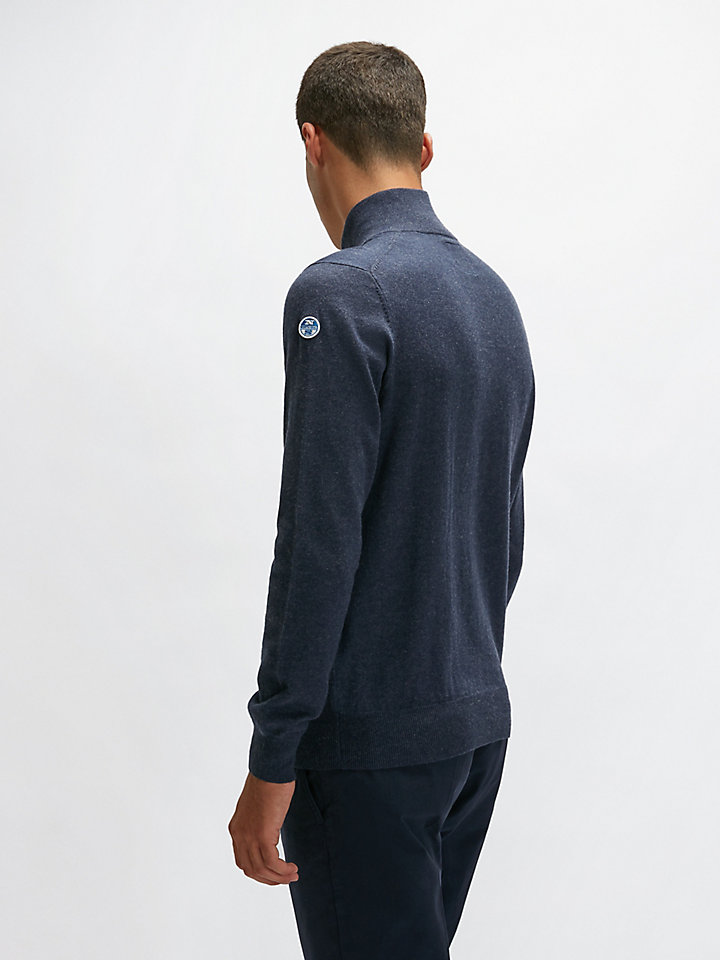 Half-Zip Cotton Jumper