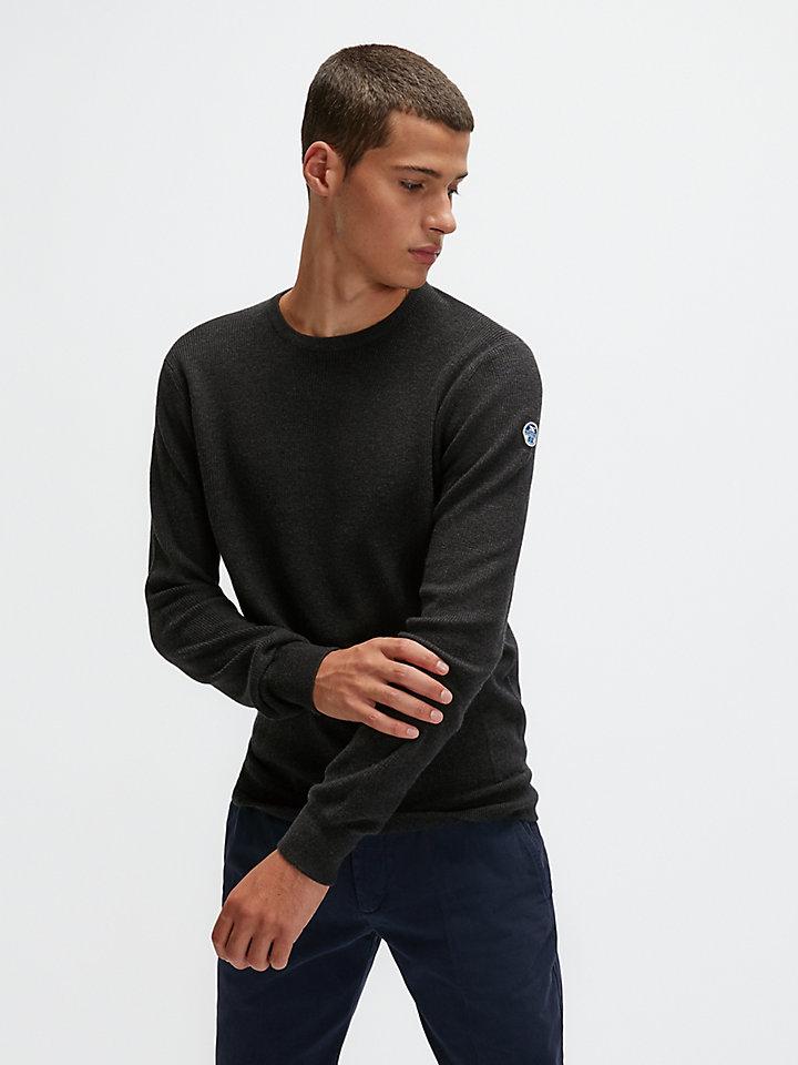 Pullover aus Baumwolle/Wolle