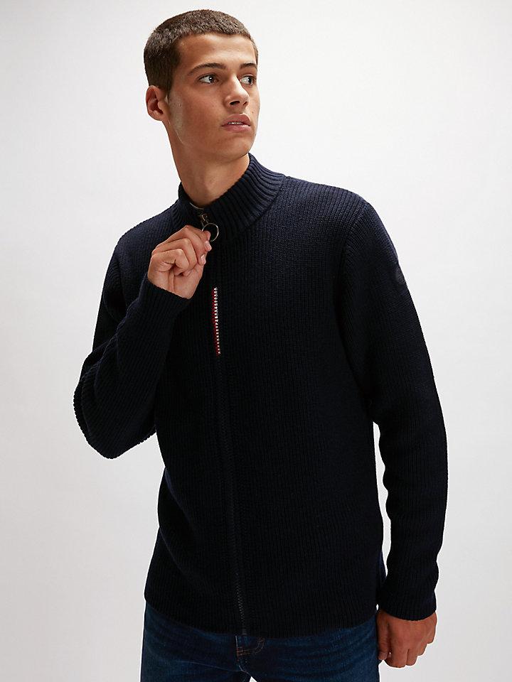 Cardigan aus Baumwolle/Wolle