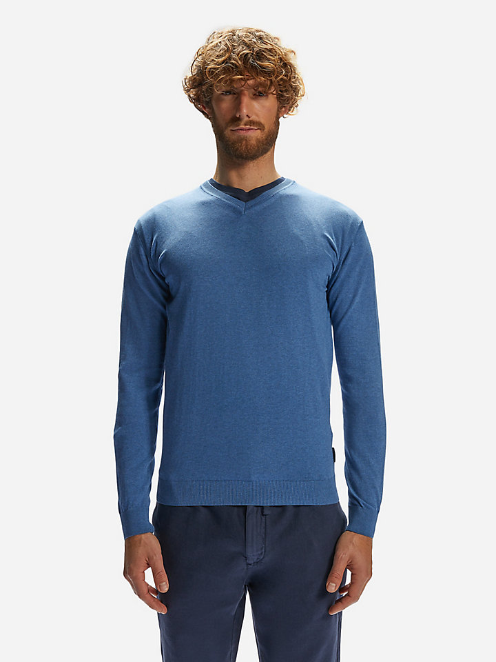 v neck sweater 14 gg