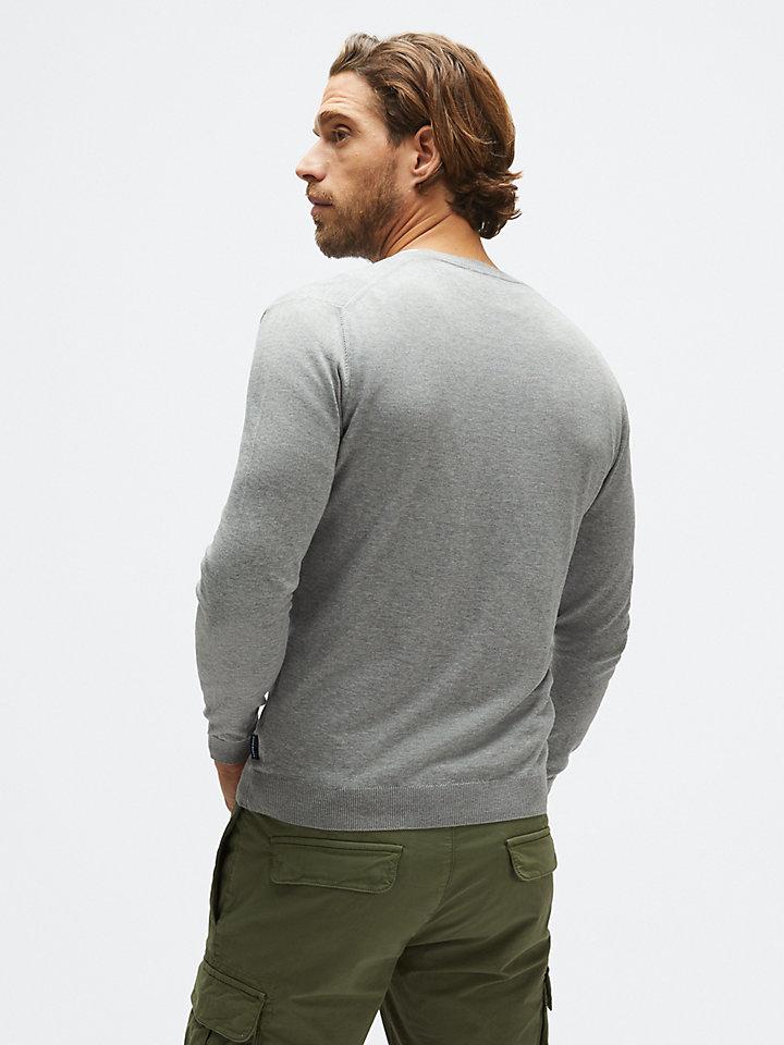 v neck sweater 14 gg