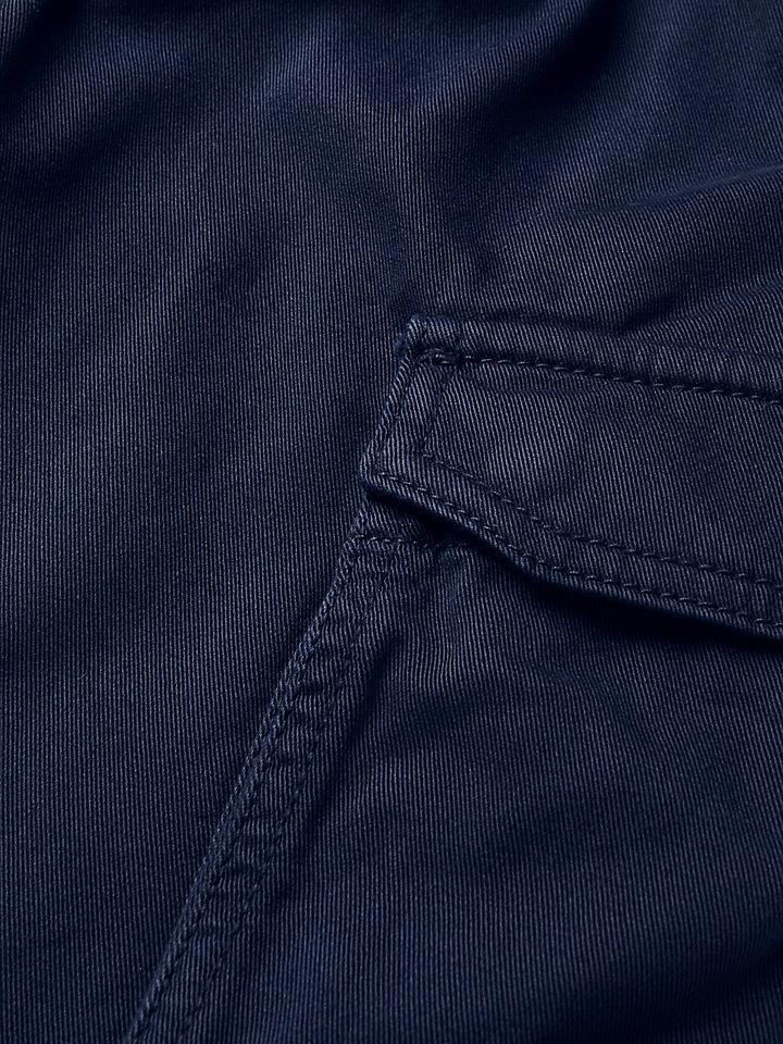 Cotton Gabardine Cargo Trousers