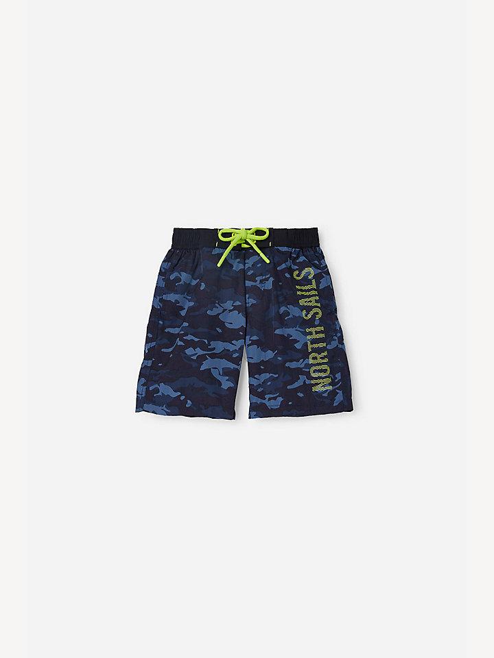 Camouflage nylon swim shorts