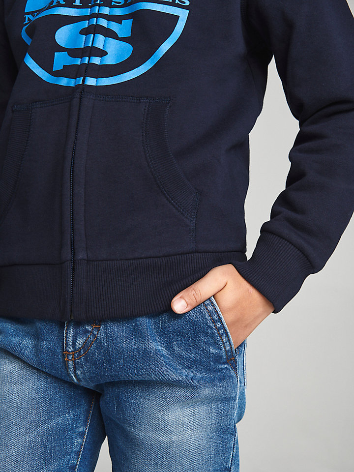 Zip-Up Cotton Hoodie