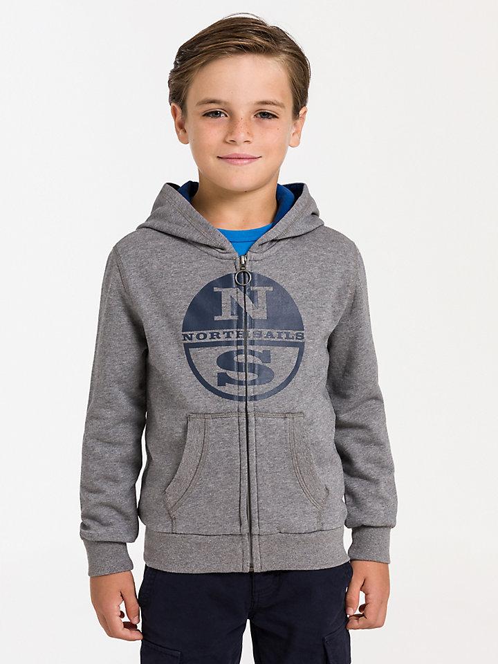 Hooded Full Zip Sweater