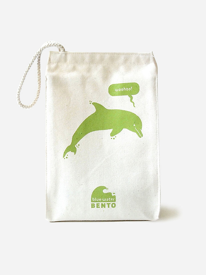 ecolunchbox blue water bento lunchbag dolphin