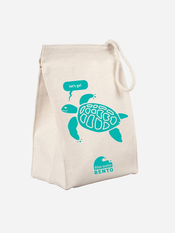 ecolunchbox blue water bento lunchbag turtle