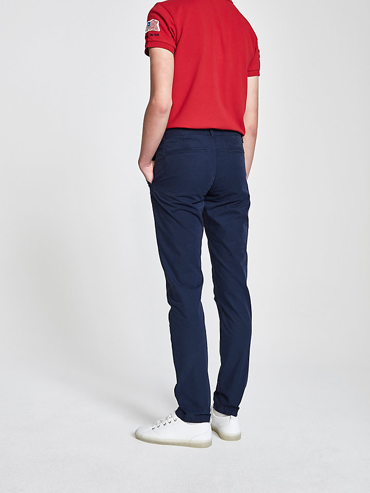Cotton Poplin Chino Trousers